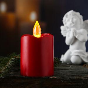 Heitronic LED Kerze mit Flackerflamme in Rot