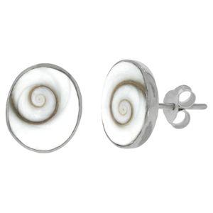 F Ohrstecker 925/- Sterling Silber 1,2cm weiß Muschel weiß 342220051