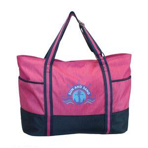 XL Strandtasche pink