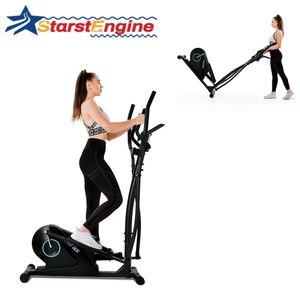Crosstrainer Ellipsentrainer Heimtrainer Fitnesstrainer Tragbar 8 Stufen LCD Display PAD-Halter Schwarz