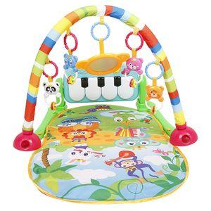 WYCTIN Spielmatte Musik-Spieldecke mit Spielbogen und Füßchenklavier für Babys