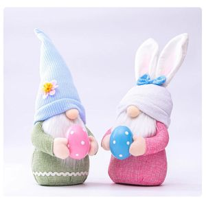 Osterhasen Wichtel Deko, Osterhasen Dekoration, Handgemachte Zwerg Geschenke für Kinder Familie Osterndeko