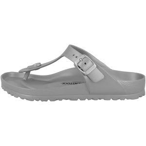 BIRKENSTOCK Gizeh Damen Zehentrenner Silber Schuhe, Größe:38