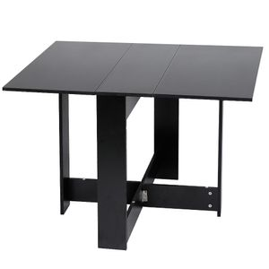 Klapptisch Esstisch Tisch klappbar Raumwunder 103*76*73.4cm Tisch Möbel Schwarz