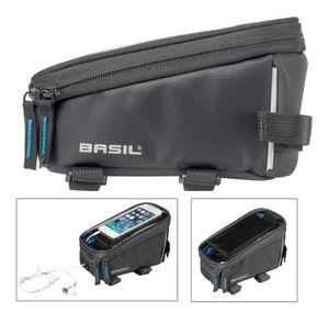 Basil Sport Design Rahmentasche 1 Liter schwarz wasserabweisend Fahrradtasche Fahrrad, Farbe:grau