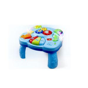 Musikalische Aktivität Tisch Baby Spielzeug -  Lachen & Spaß Elektronische pädagogische Kleinkinder Spielzeug Abenteuer Spieltisch für 6 Monate + Baby Kinder (neue Geschenke für Ihre Babys)