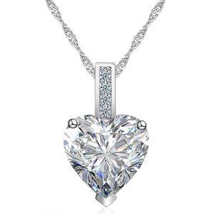 Damen Halskette Herz Anhänger Zirkonia Heart Geschenk Autiga® klar