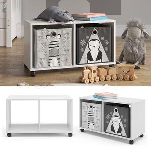 Vicco Rollcontainer Luigi für Faltbox Kinderregal 2 Fächer Spielzeugregal Aufbewahrung