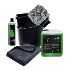 CLEANTECH CO Autowasch Set Tech Cleaner + Mikrofaserhandschuh und Verschiedene Sets, Größe:1L, Set:S