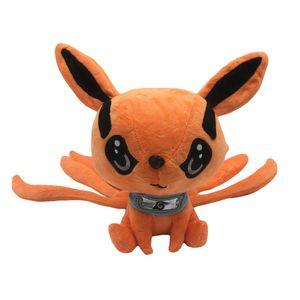 Anime Naruto Neunschwänziger Fuchs Plüschpuppe Niedlich Orange Plüschtier 25cm