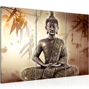 Buddha BILD 120x80 cm − FOTOGRAFIE AUF VLIES LEINWANDBILD XXL DEKORATION WANDBILDER MODERN KUNSTDRUCK MEHRTEILIG 500331a