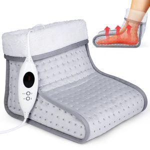 sinnlein Fußwärmer Grau mit 6 Temperaturstufen & Timer | Fußheizung elektrisch | Überhitzungsschutz & Abschaltautomatik