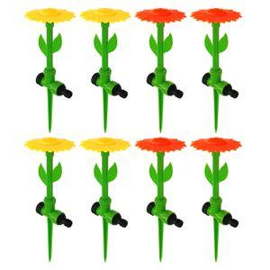 8er Set Blumen Wassersprenger Rasensprenger Wassersprinkler Gartensprenger Wasserspielzeug Sprühregner Garten Bewässerung Sprinkler