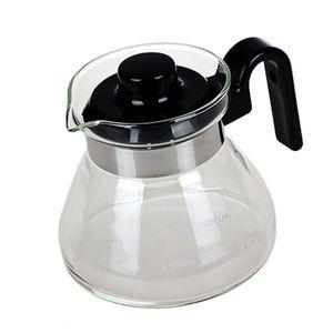 1 Stück Glas Kaffeekanne Glaskanne, für Kaffeemaschine, Glas, mit Kunststoffdeckel