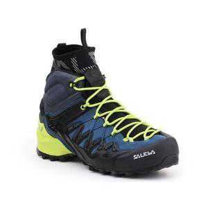 Salewa Wanderschuh Herren Trekkingschuh Wildfire Edge Mid Gore-Tex® , Farbe:Poseidon/Cactus, Schuhgröße:Herren EU 44.5/UK 9.5