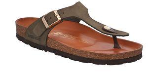 Rohde Alba Damen Zehentrenner Sandale Sandalette Hausschuhe Fashionsandale, Farbe:Grün (Olive), Größe:EUR 36