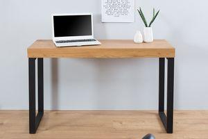 Design Konsole OAK DESK 120cm Eiche Vintage Metallgestell Bürotisch Laptoptisch Schreibtisch Schminktisch