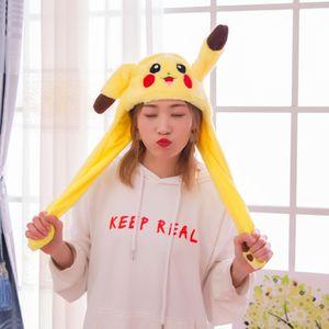60cm süße Pikachu Hut Ohren nach oben Airbag Plüsch Spielzeug Kappe Geburtstagsgeschenk