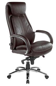 Kijng Chefsessel Throne Braun Leder - Ergonomischer Bürostuhl Schreibtischstuhl Stuhl Sessel