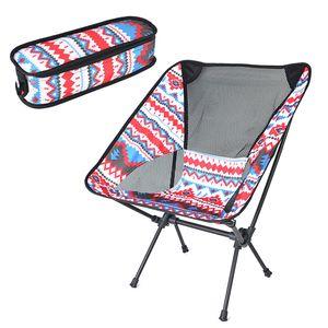 Ultraleichter tragbarer Klappstuhl im Freien mit Tragetasche fuer Camping-Rucksacktouren, Wanderpicknickstrand