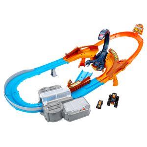 Hot Wheels Monster Trucks Skorpion-Beschleuniger Rennbahn Set inkl. 2 Spielzeugautos