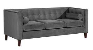 Max Winzer Jeronimo Sofa 3-Sitzer - Farbe: anthrazit - Maße: 215 cm x 85 cm x 80 cm; 2962-3100-2044214-F07
