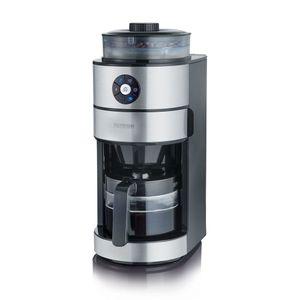 Severin KA 4811 Filterkaffeemaschine mit Mahlwerk für 6 Tassen Edelstahl schwarz