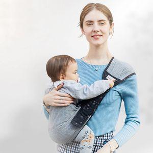 Einstellbar Babytragen Babytragetücher Baby Kinderbetreuung Sling leichte und leicht zu faltende Eine Größe passte alle (Grau)