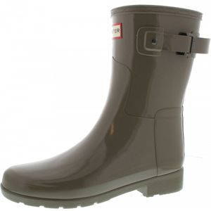 Hunter Boots W Org Refined Short Gloss Damen Gummistiefel in Braun, Größe 37