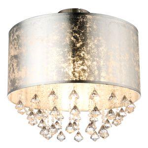 LED Deckenlampe im Blattsilber Design mit Kristallen, AMY