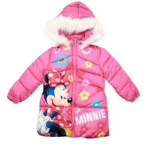 Disney Minnie Maus Kinder Winterjacke Jacke mit Kapuze Rosa Mädchen Gr. 128