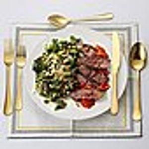 Edelstahlbesteck Steakbesteck Löffelset im westlichen Stil