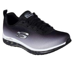 SKECHERS 12640/BKW Skech-Air Element Damen Sneaker schwarz/weiß, Größe:39, Farbe:Schwarz