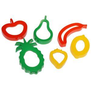 Ausstechformen-Set Obst, 6-teilig - Früchte Formen für Knete