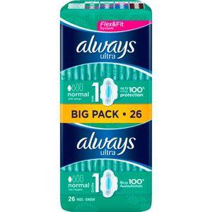 Always Ultra normal mit Fllügeln Damenbinden Vorteilspack 26er