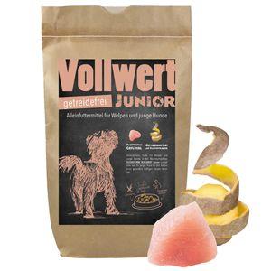 DOGREFORM VOLLWERT Junior getreidefrei mit Nutrizeutika Trockenfutter für Welpen 100% getreidefrei mit Hochwertigen Zutaten hergestellt in Deutschland 6,0 kg