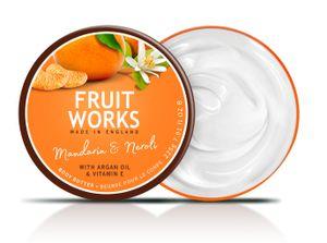 Fruit Works Mandarine & Neroli Body Butter 225 g Unisex Körperbutter mit Arganöl & Vitamin E