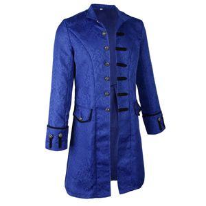 gotischer Steampunk viktorianischer Jacquardmantel xl der   der Männer Größe XL Farbe Blau
