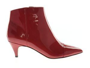 Sam Edelman Damen-Schuhe Stiefelette mit Absatz Rot Leder , Größe:38.5
