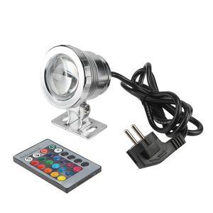 10W RGB LED Unterwasserlicht Tauchlampe mit Fernbedienung IP65 Wasserdicht Design für Pool Aquarium Brunnen mit Stecker