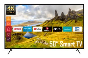 Telefunken XU50K521 50 Zoll Fernseher (Smart TV inkl. Prime Video/Netflix/YouTube, 4K UHD, HDR, HD+)