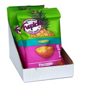 Tropicks Fruit Balls Ananas Mango Limette aus Ghana Karton 400g Ohne Zuckerzusatz