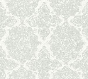 A.S. Création Vliestapete Boho Love Tapete metallic grau weiß 10,05 m x 0,53 m 364631 36463-1