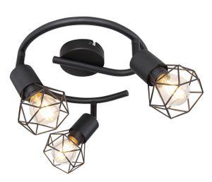 Globo Lighting XARA I Strahler Metall schwarz, 3xE14, 54802S-3
