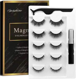 Magnetic Eyelashes Kit Magnetischer Eyeliner mit magnetischen Wimpern Magnetischer Lashliner Zur Verwendung mit magnetischen falschen Wimpern Natürliches Aussehen - kein Kleber erforderlich (5 Paare)