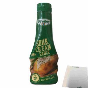 Develey Sour Cream Sauce mit Schnittlauch (250ml Flasche) + usy Block