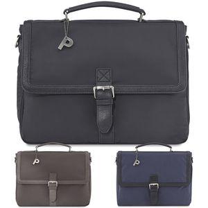 PICARD Aktentasche S'Pore Businesstasche Bürotasche Schultertasche Laptoptasche, Farbe:Cafe
