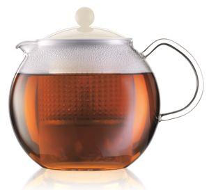 BODUM ASSAM Teekannenkolben-Kunststofffilter 1,5L weiß
