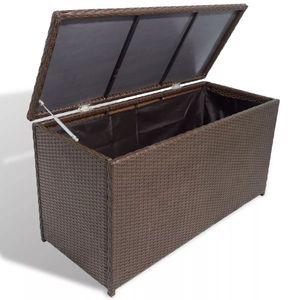 anlund Garten-Aufbewahrungsbox Braun 120x50x60 cm Poly Rattan
