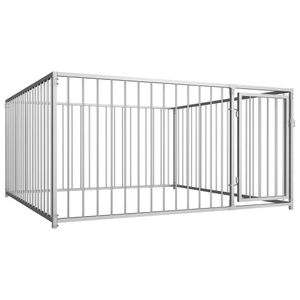 Outdoor-Hundezwinger Transportbox Hundekäfig - Tierlaufstall für Hunde 200×200×100 cm für Hunde |16951